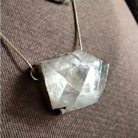 Big crystal necklace